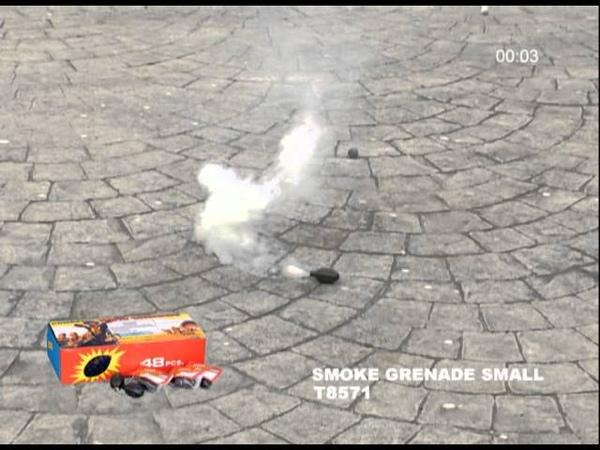 Small Smoke Grenade T8571 Winda Fireworks by Red Apple Fireworks