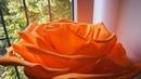 Роза из фоамирана D=40 см. Часть 1