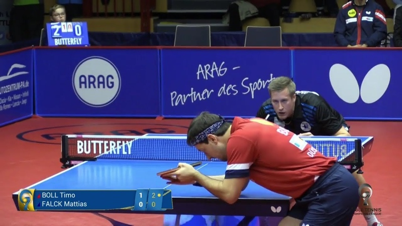 Timo Boll vs Mattias Falck Champions League 2018 2019