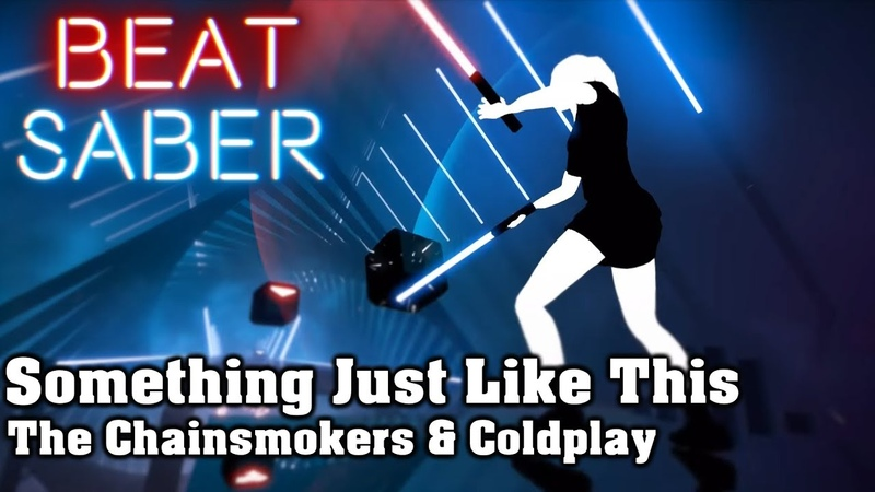 Beat Saber - Something Just Like This - The Chainsmokers Coldplay (custom song) | FC