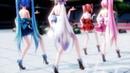 MMD 3Change KiLLER LADY Miku Teto Haku Luka 日本 EN sub 4K 60fps