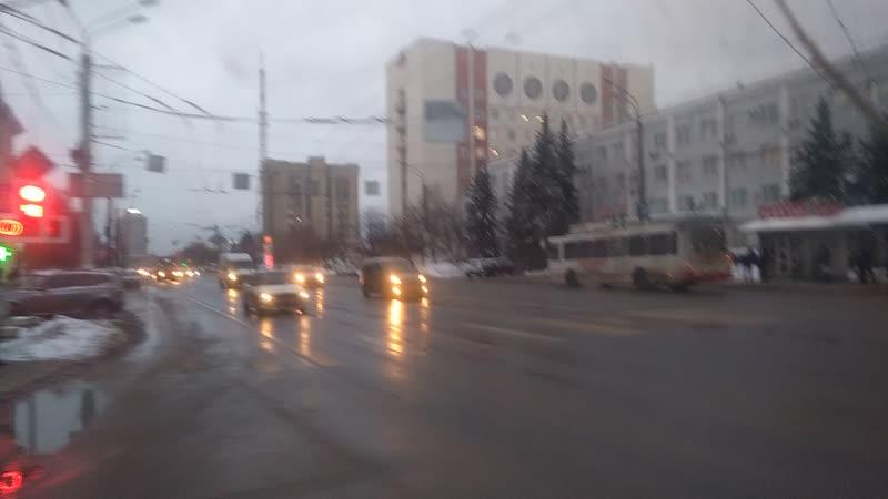 нетипичный маршрут троллейбуса 15.01.2019
