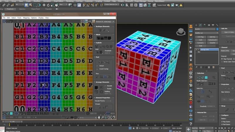 Урок по работе Unwrap 3ds Max