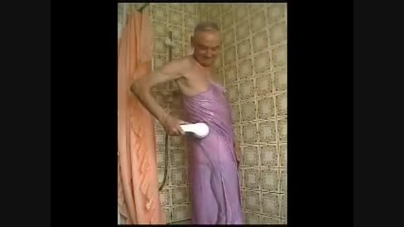 Satin nightdress shower