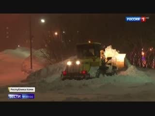 Мощнейший буран в Воркуте: два автобуса застряли посреди тундры