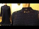 Платье крючком с ажурной отделкой