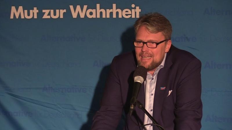 Sensationsvortrag von Guido Reil in München. AfD-Wahlkampf Landtagswahl 2018
