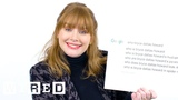 Bryce Dallas Howard Answers the Web's Most Searched Questions WIRED