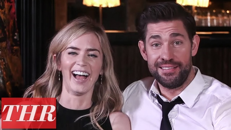 Emily Blunt John Krasinski Reveal First Celebrity Crushes, Childhood Movie Favorites More! | THR