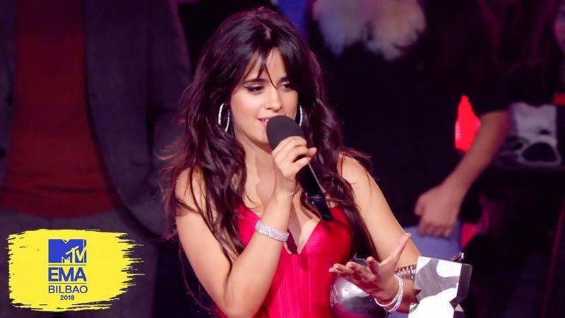 Camila Cabello Accepts Best Artist Award   MTV EMAs 2018