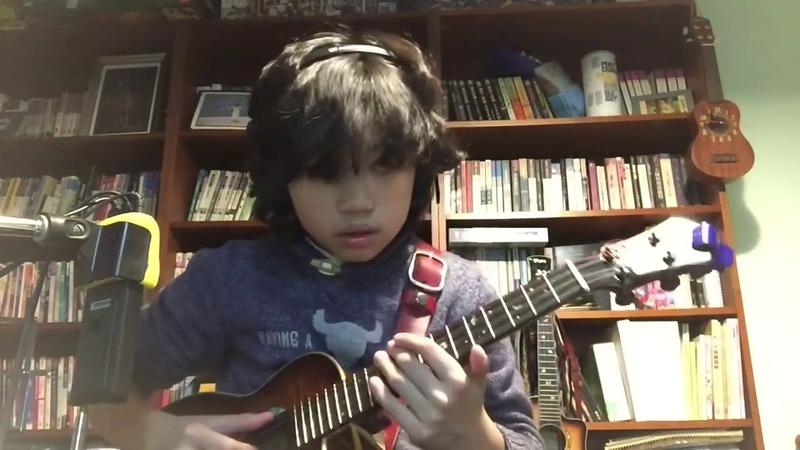 Smells like teen spirit Nirvana, arranged and played by Feng E, ukulele