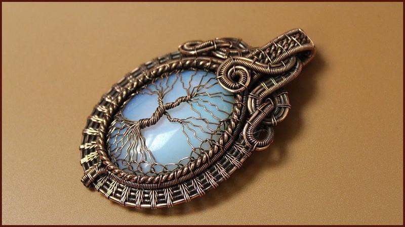 Tree of Life wire wrapped pendant Wire wrap tutorial. Кулон Древо жизни из проволоки