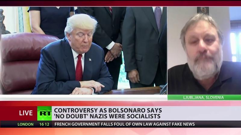 Slavoj Žižek on Julian Assange, Bolsonaro yellow vests (Apr. 2019)
