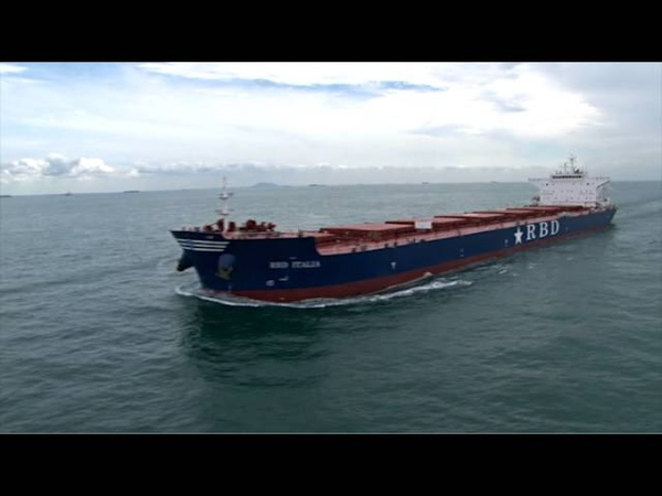 New Bulk carrier, RBD Italia film by Singapore aerial photographer Tommy Chia crew.