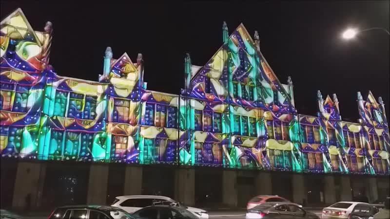 Проекционные инсталляции на фасад здания Город Нижний Новгород