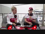 [RUS] Sauber's Marcus Ericsson and Charles Leclerc | Grill the Grid: Truth or Lie?