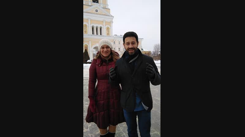 Антон и Виктория Макарские в Серафимо-Дивеевском монастыре