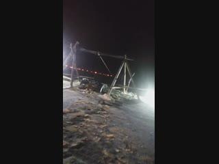 Цигломень. Утопили трактор.