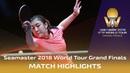 Chen Meng vs Zhu Yuling 2018 ITTF World Tour Grand Finals Highlights 1 2
