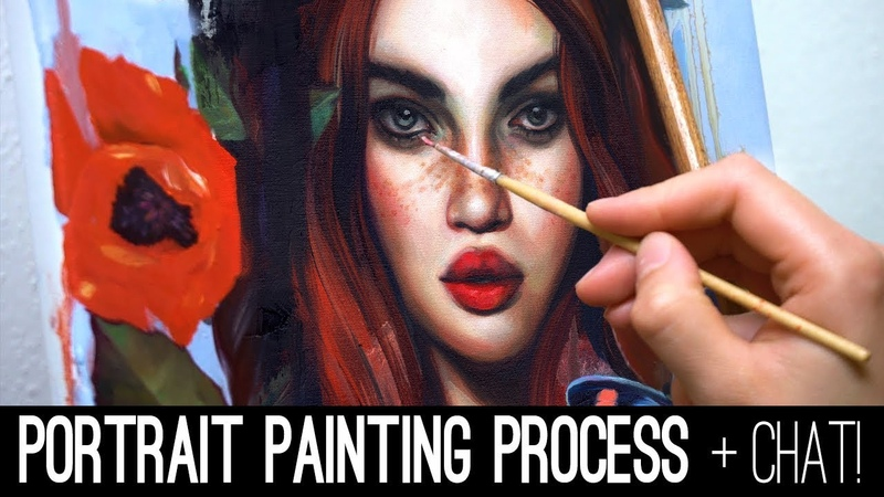 PORTRAIT PAINTING PROCESS WITH OILS Chat!