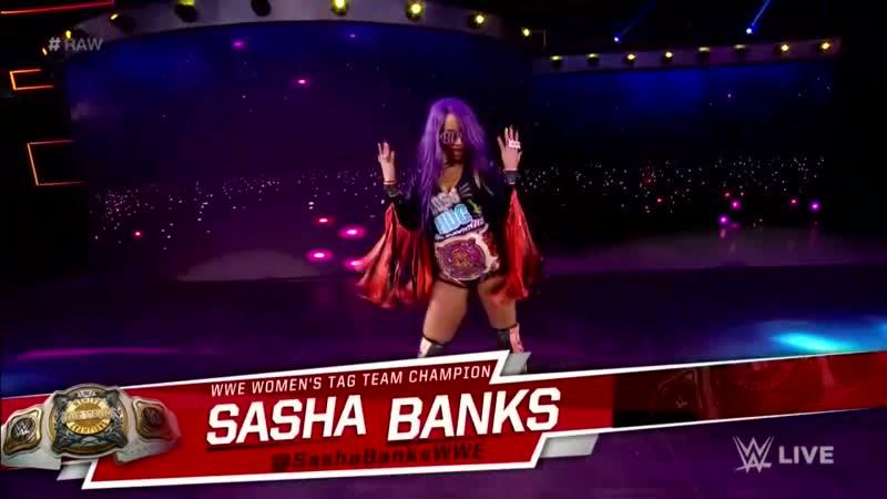 SB_Group  Sasha Banks Bayley Entrance — RAW March 18, 2019