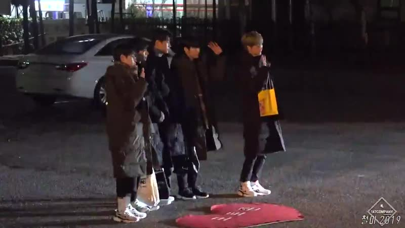 190118 KNK on their way to/leaving Music Bank