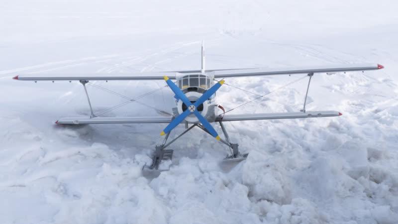 Авиамодель АН 2 Закрытие зимнего лыжного сезона Елабуга 2019