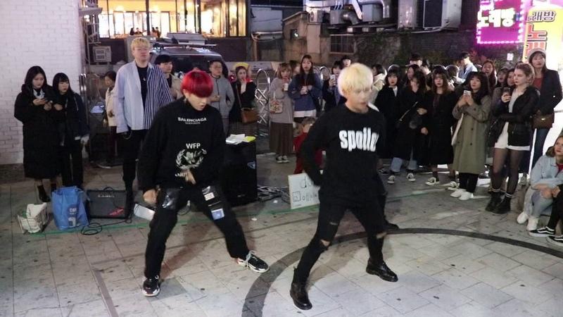 181021 디오비 DOB 박진,안용진,김민석 (EXO- monster) 홍대버스킹