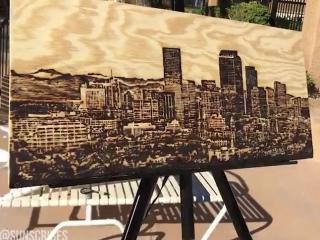 Художник рисует с помощью солнца