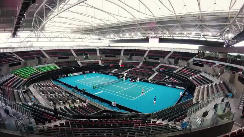 Day One in Brisbane did not disappoint... - - AUSBLR FedCup.mp4