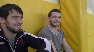Ахмед Идрисов, Магомед Рамазанов и Мурад Курамагомедов на Аланах 2018.