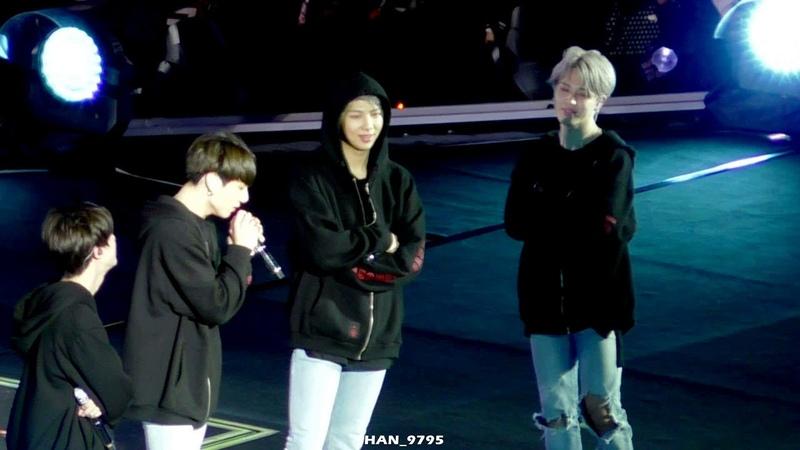 181209 Love Yourself Tour in Taoyuan - JUNGKOOK singing I Look Forward JIMIN reaction fancam