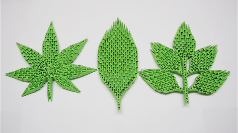 3D Origami Leaves Tutorial | DIY Paper Leaves , Maple Leaf Home Decor