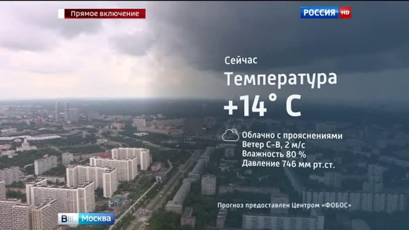 Вести-Москва • Погода в Москве тепло, дожди, очаговые грозы