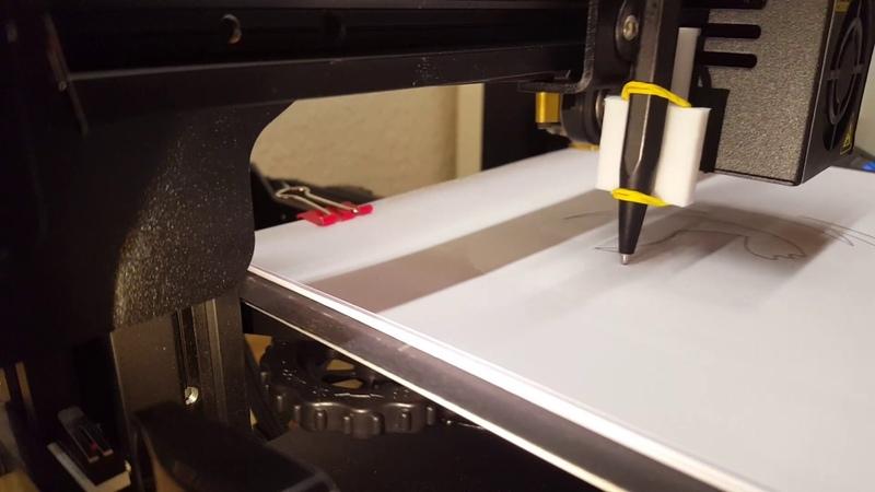 Creality Ender 3 (Pro) 3D Printer Plotter mod