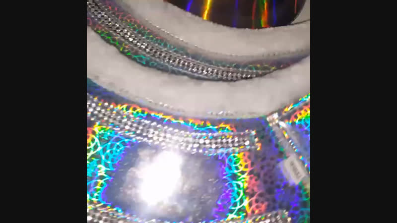 Holographic horse Boot Set with diamond