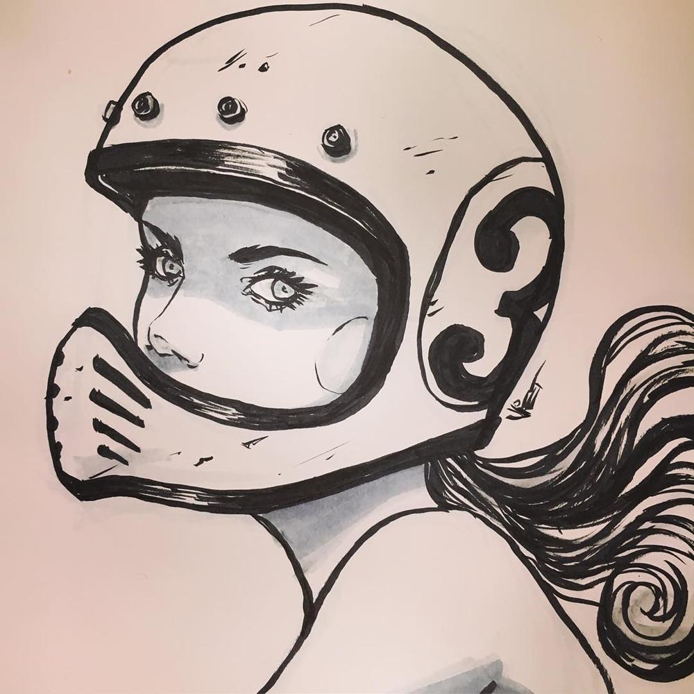 Мотоискусство Вьета - рисунки мото леди