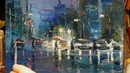Rainy Street - How To - Oil Painting - Palette Knife | Brush - Impressionism Color Mixing Dusan