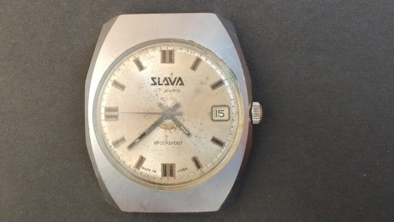 SLAVA 17 jewels shockproof made in ussr