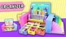 DESKTOP ORGANIZER from Cardboard - Back to school | aPasos Crafts DIY