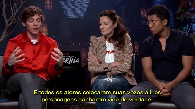 Интервью Росса, Мишель Гомез и Чэнса Пердомо для «Notícias da TV» на Комик Коне