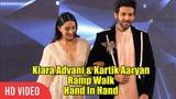 Kiara Advani &amp Kartik Aaryan Ramp Walk Hand In Hand Manish Malhotra