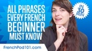 100 Phrases Every French Beginner Must-Know
