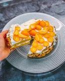 🥕Морковный торт с рикоттой 🥕 🔸Коржи: -3 средние моркови -3 яйца -100гр рисовой/овсяной муки -1ч.л ра