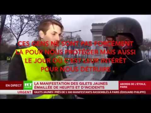 Video infiltrations de police dans manifestations Gilets Jaunes Explications dAxel sur RT France