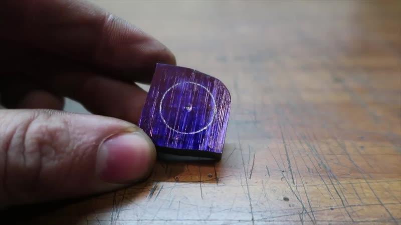 Ручная ковка кольца из дамасской стали