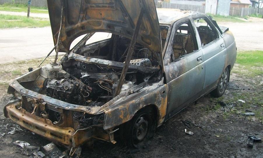 В Черкесске сгорела «десятка»