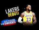 LeBron James Los Angeles Lakers DEBUT 2018.09.30 vs Nuggets - 9 Pts, 4 Asts | FreeDawkins