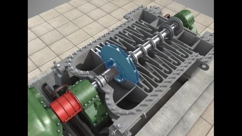 Воздушный центробежный компрессор (воздуходувка)