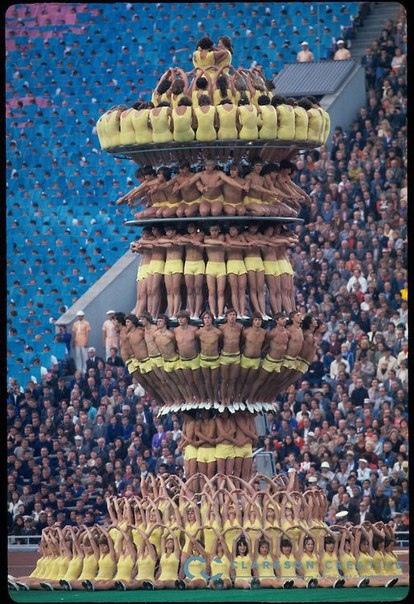 Церемония открытия Олимпийских игр в Москве. 19 июля 1980 год.